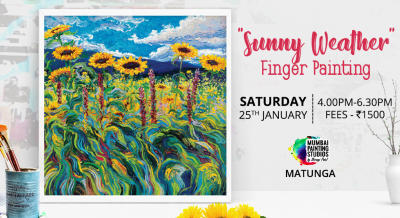 Sunny Weather - Finger Painting Workshop in Mumbai