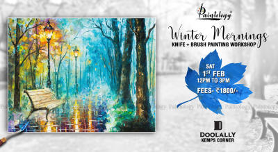 'Winter Mornings' Knife + Brush painting workshop by Paintology