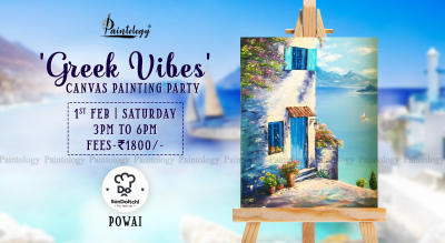 'Greek Vibes' Canvas Painting party, by Paintology