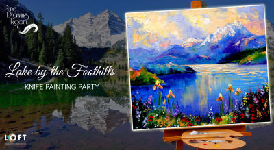 Lake by the Foothills Knife Painting Party by Pune Drawing Room