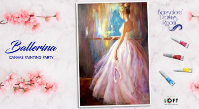 Ballerina Canvas Painting Party by Bangalore Drawing Room