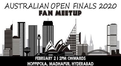 Fan Meet: Australian Open Finals 2020 At Hoppipola Hyderabad, Madhapur