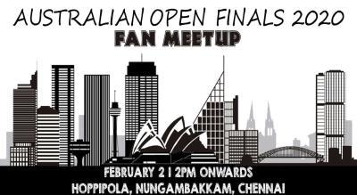 Fan Meet: Australian Open Finals 2020 At Hoppipola Nungambakkam, Chennai