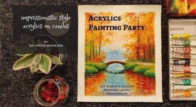 Landscape Reflections Acrylics Painting Party Sai Priya Mahajan