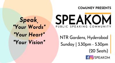 Speakom Hyderabad - Public Speaking Community