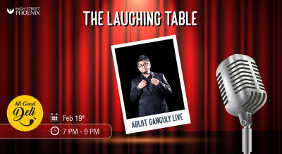 The Laughing Table at All Good Deli by Abijit Ganguly