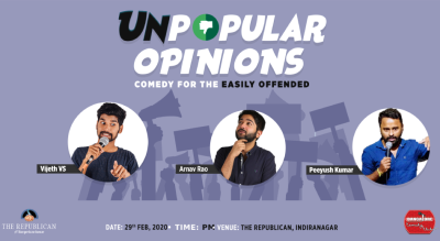 Unpopular Opinions - A Stand up Comedy Show