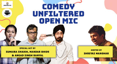 Comedy Unfiltered Open Mic ft. Angad Singh, Mandar B & Sumaira S