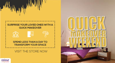 Over the Weekend – Quick Makeovers!
