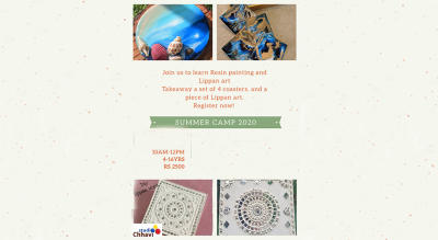 Summer Art Camp in Resin and Lippan