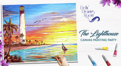 The Lighthouse Canvas Painting Party by Delhi Drawing Room