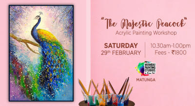 Magnificent Peacock - Acrylic Painting Workshop by Mumbai Painting Studios