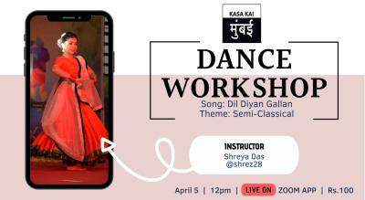 Dance Workshop With Kasa Kai At Live Zoom App