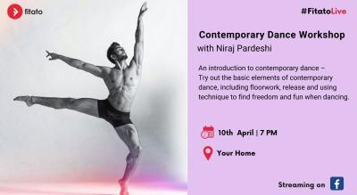 Fitato Facebook Live: Contemporary Dance Workshop with Niraj