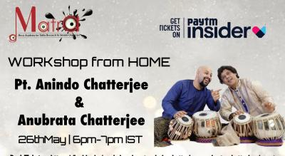Workshop by Pt. Anindo Chatterjee & Anubrata Chatterjee