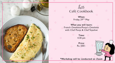 Pooja's Omelette making with Chef Pooja and Tejashwi