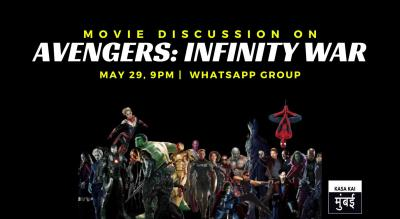 Movie Discussion On Avengers: Infinity War At Online Whatsapp
