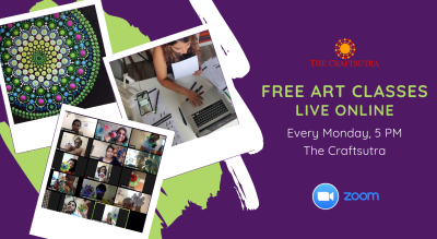 FREE Online Classes - Art & Craft workshops