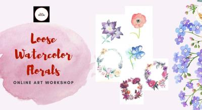 Water Color Florals - Online Painting Workshop