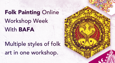 Folk Painting Online Workshop Week with BAFA
