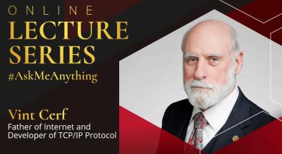 Online Lecture Series by Techfest IIT Bombay :  Vint Cerf, Father of the Internet