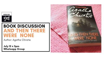 Book Discussion on And Then There Were None At Online Whatsapp Group