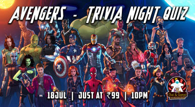 Avengers Trivia Night Quiz hosted by Chai & Games
