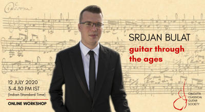 Srdjan Bulat online workshop: Guitar through the Ages