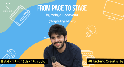From Page To Stage(Storytelling Edition) by Yahya Bootwala || Kommune