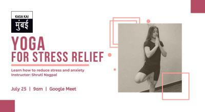 Yoga for stress relief At Google Meet
