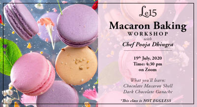Macaron Baking Workshop with Chef Pooja Dhingra