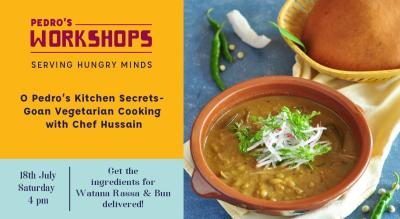 O Pedro's Kitchen Secrets - Goan Vegetarian Cooking with Chef Hussain!