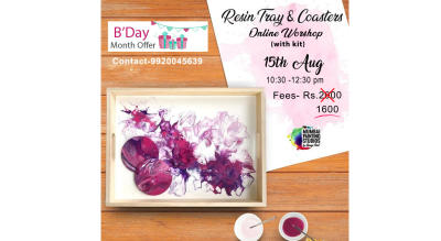Online Resin Tray and Coasters with kit
