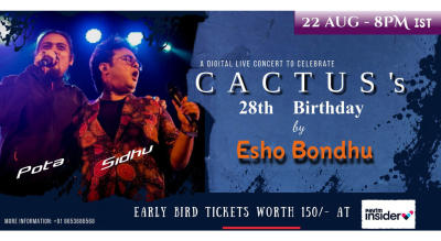 Celebrating the birthday of Cactus with Esho Bondhu