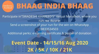 BHAAG INDIA BHAAG - RUN FOR A CAUSE - Virtual Marathon