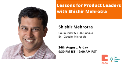 Lessons for Product Leaders with Shishir Mehrotra | The Product Folks