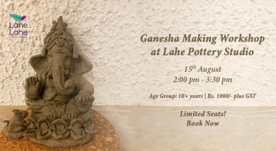 Ganesha Making Workshop at Lahe Pottery Studio