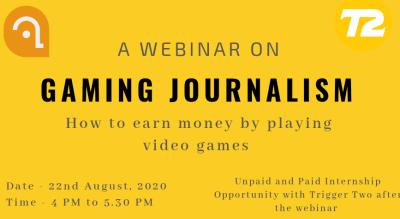 Webinar on Gaming Journalism