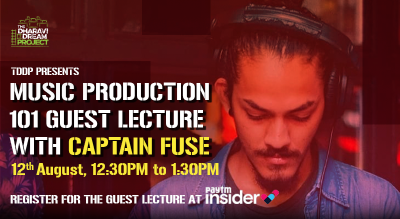 Music Production 101 with 'CAPTAIN FUSE' at TDDP's online AfterSchoolofHipHop
