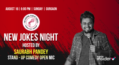 New Jokes Night - Standup comedy open mic - hosted by Saurabh Pandey