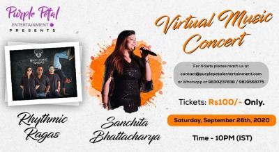 Virtual Music Concert with Rhythmic Ragas and Sanchita Bhattacharya