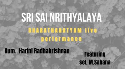 Sri sai Nrithyalaya BHARATHANATYAM LIVE PERFORMANCE | ft. HARINI RADHAKRISHNAN & M.SAHANA | Embellish events