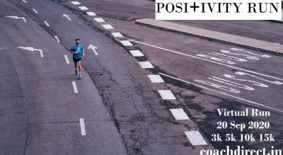 POSITIVITY: FREE Virtual Run  3km/5km/10km/15km