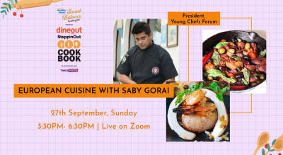 Dineout SteppinOut Cookbook with Chef Saby