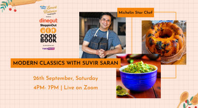 Dineout SteppinOut Cookbook with Chef Suvir Saran