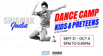 SHIAMAK Dance Camp for Kids (4-6 years) - Batch #1