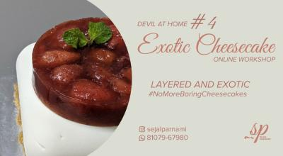 Eggless Layered and Exotic Cheesecake Workshop by Sejal Parnami