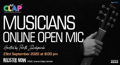 ONLINE MUSICIAN'S OPEN MIC