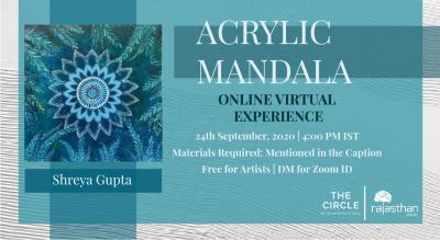 Acrylic Mandala Workshop by Rajasthan Studio
