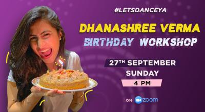 Dance Workshop with Dhanashree Verma